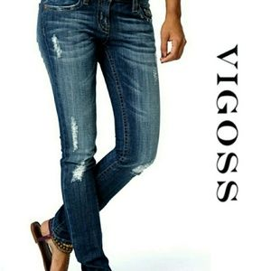 Vigoss Brooklyn Skinny Distressed Jeans 26